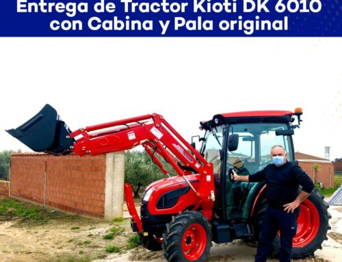 Entrega Tractor Kioti Dk 6010 con Cabina y Pala original en Villanueva de la Serena