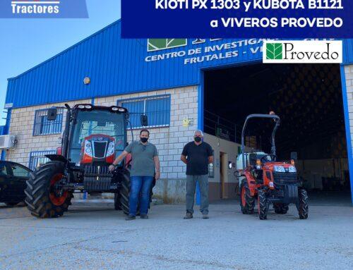 Entrega KIOTI PX 1303 y KUBOTA B1121 a los VIVEROS PROVEDO