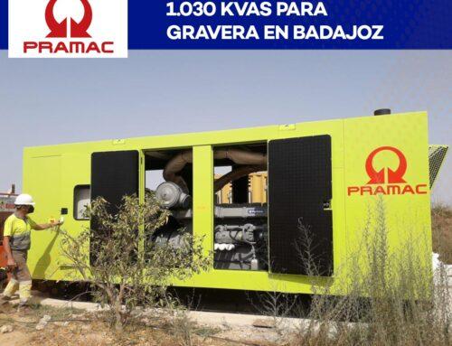 Puesta en marcha de Grupo Electrogeno de 1.030 KVAS para gravera en Badajoz