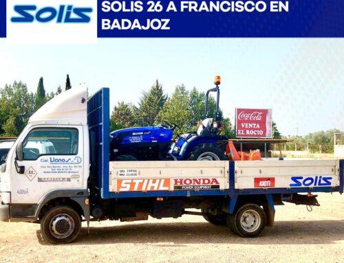 Entrega de Tractor Solis 26 a Francisco. Esta vez en Badajoz